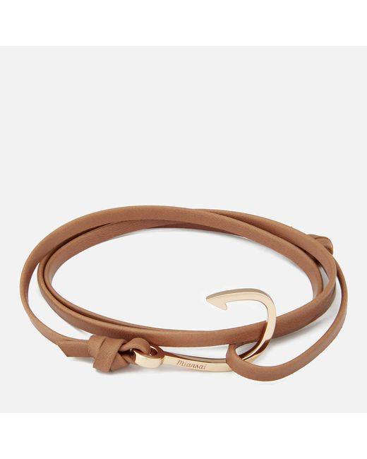 Miansai - Multicolor Men's Leather Bracelet With Rose Hook for Men - Lyst