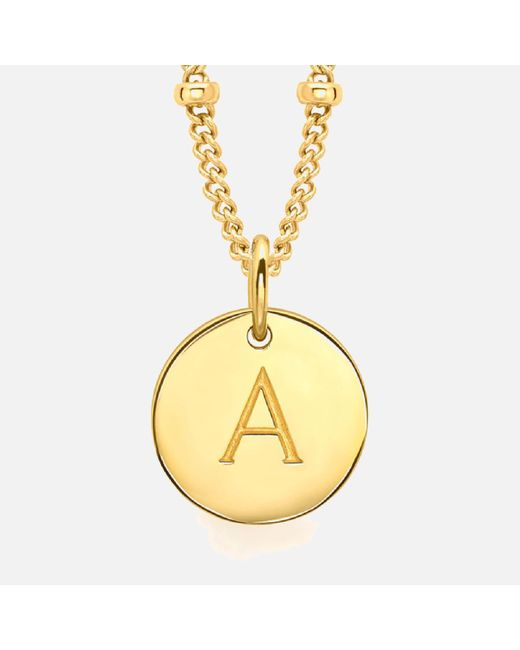 Missoma - Metallic Women's Initial Charm Necklace A - Lyst