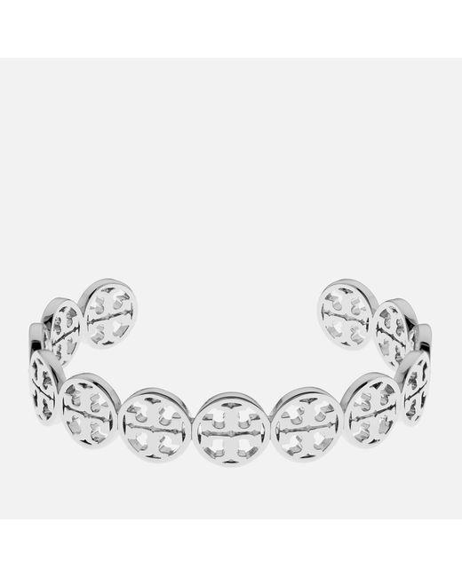 Tory Burch - Metallic Logo Cuff Bracelet - Lyst