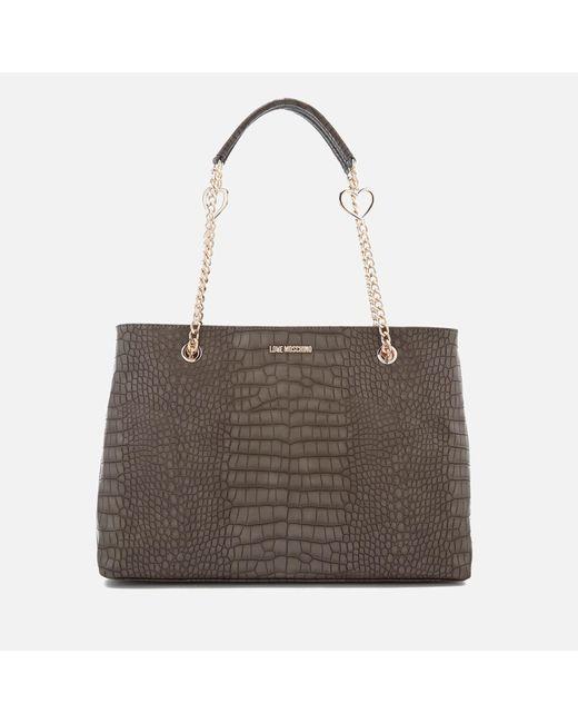 Love Moschino | Multicolor Croc Shopper Tote Bag | Lyst