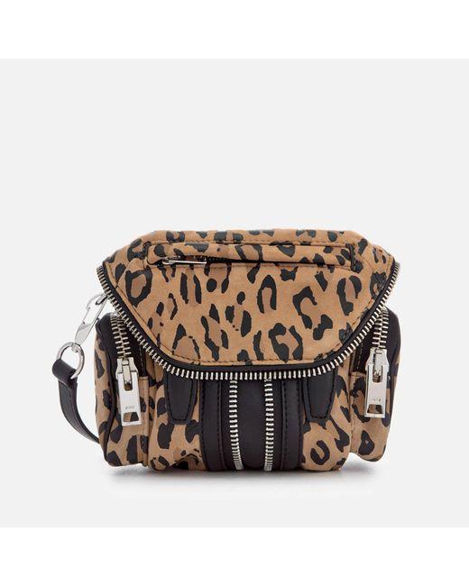 Alexander Wang - Multicolor Micro Marti Leopard Print Suede Shoulder Bag - Lyst