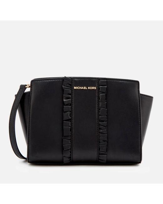 MICHAEL Michael Kors - Black Selma Medium Messenger Bag - Lyst