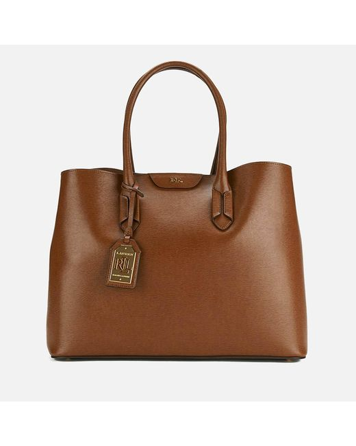 Lauren by Ralph Lauren - Brown Tate City Tote Bag - Lyst