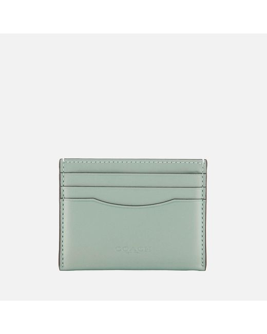 COACH - Green Metallic Flat Card Case - Lyst