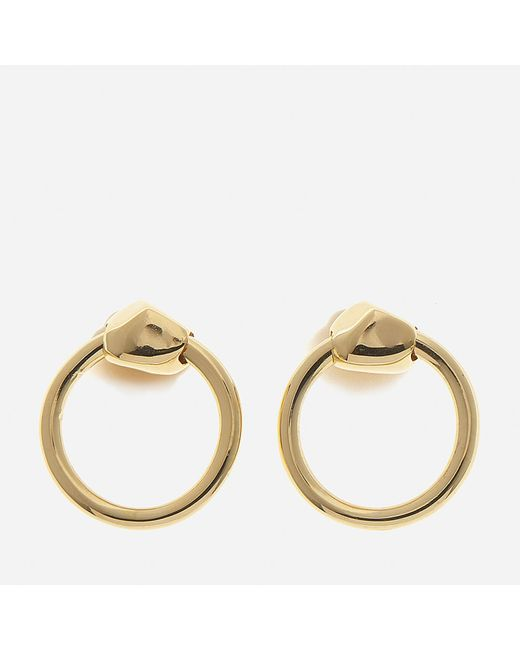 Missoma | Metallic Gold Nugget Hoops | Lyst