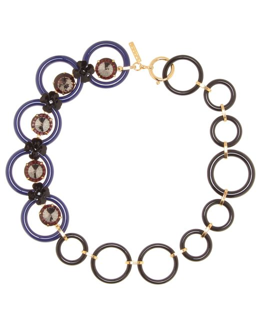 Marni | Multicolor Embellished Floral Necklace | Lyst