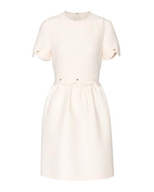 Valentino - White Wool And Silk Dress - Lyst