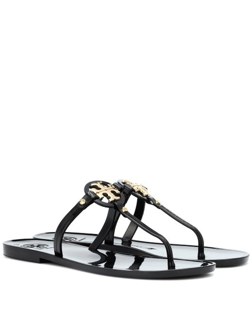 392b575115dc90 Tory Burch - Black Mini Miller Jelly Sandals - Lyst ...