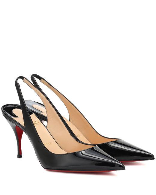 code promo 5582d dc755 Escarpins Clare Sling 80 en cuir verni femme de coloris noir
