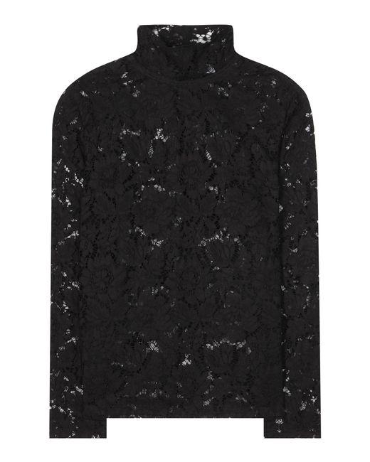 Valentino - Black Lace Blouse - Lyst