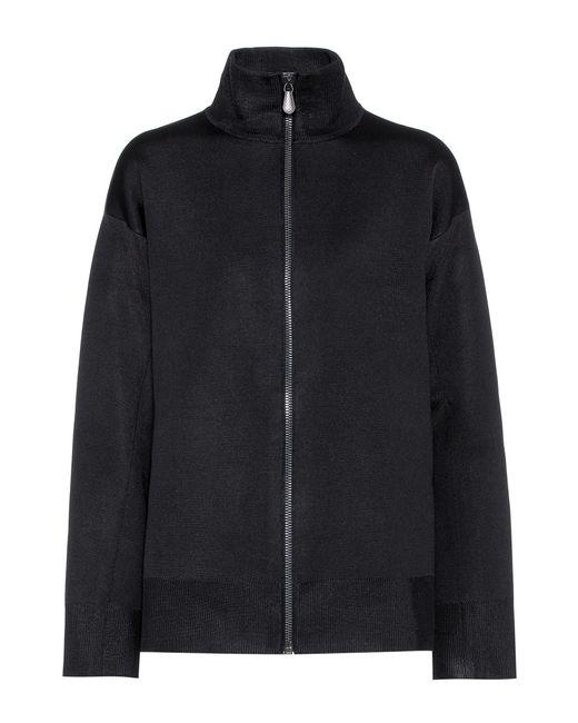 Bottega Veneta - Black Wool And Silk-blend Jersey Jacket - Lyst