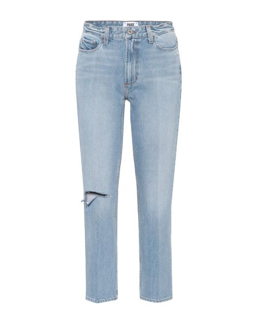 PAIGE - Blue Sarah High-waisted Straight Jeans - Lyst