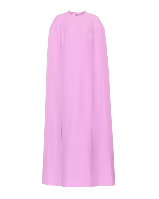 Valentino | Pink Wool And Silk Dress | Lyst
