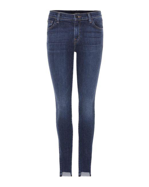 J Brand | Blue Skinny Leg Mid-rise Jeans | Lyst