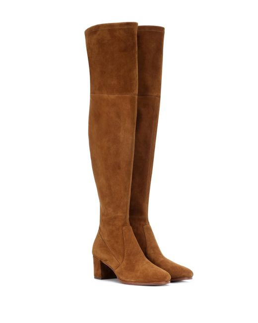 Polo Ralph Lauren - Brown Michaela Suede Over-the-knee Boots - Lyst