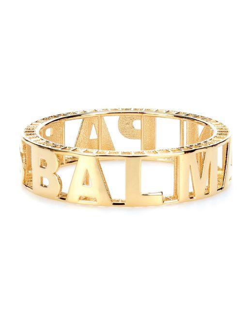 Balmain - Metallic Logo Bracelet - Lyst