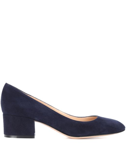 7a3092e7b0ef ... Gianvito Rossi - Blue Exclusive To Mytheresa.com – Linda 45 Suede Pumps  - Lyst ...
