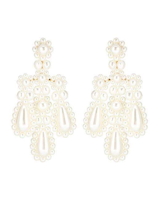 Simone Rocha - White Faux Pearl Earrings - Lyst