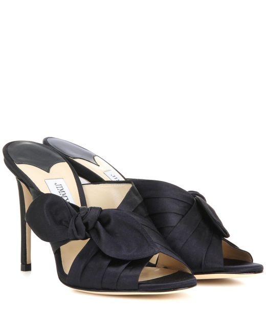 Jimmy Choo | Blue Keely 100 Satin Sandals | Lyst