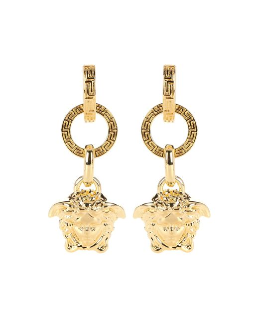 Versace - Metallic Medusa Earrings - Lyst