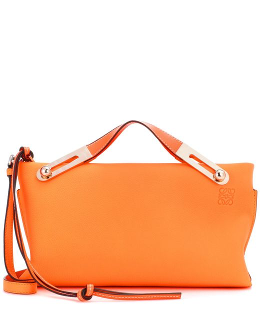Loewe | Orange Small Missy Textured Leather Clutch | Lyst