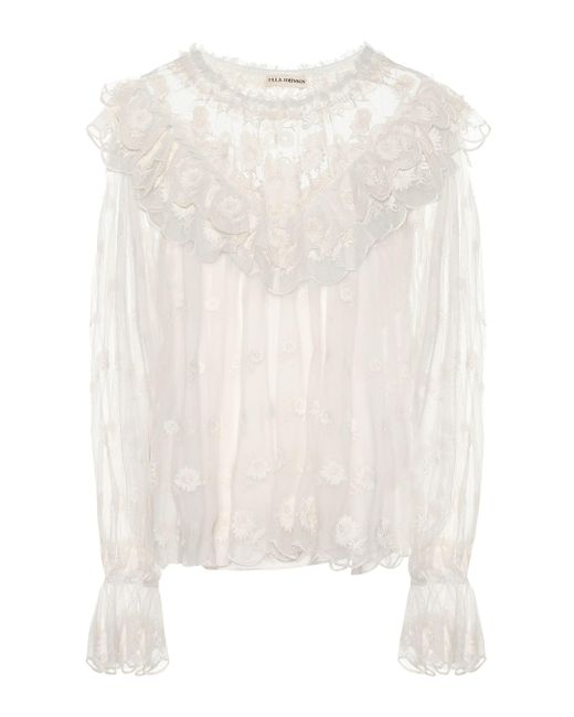 Ulla Johnson - White Lucien Embroidered Blouse - Lyst