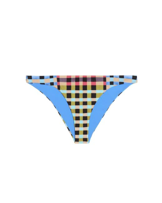 Mara Hoffman | Blue Plaid Swimsuit Bottom | Lyst