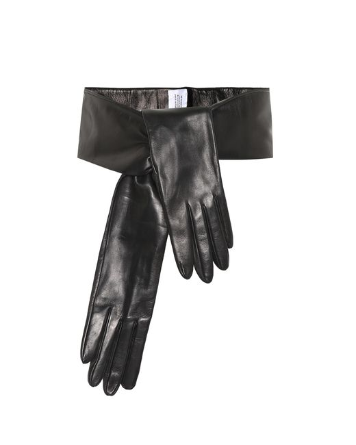 Vetements - Black Leather Gloves Belt - Lyst