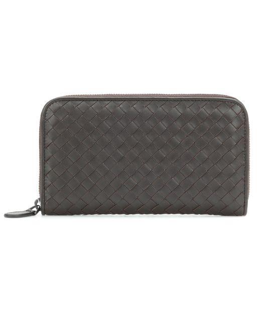 Bottega Veneta - Brown Intrecciato Leather Wallet - Lyst