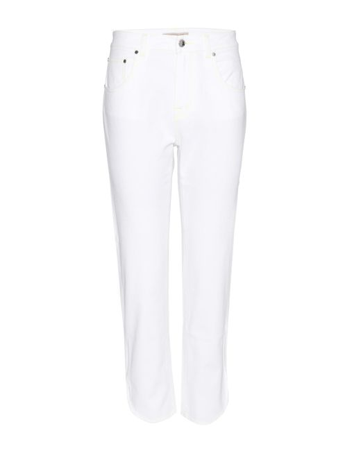 Christopher Kane - White Cropped Jeans - Lyst