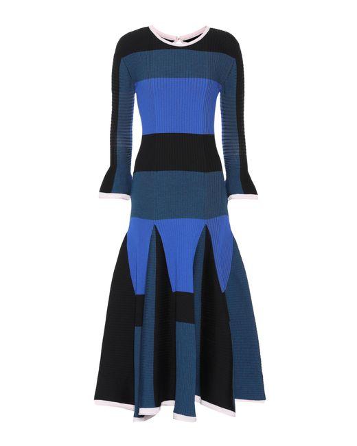 Roksanda   Blue Ribbed Wool-blend Dress   Lyst