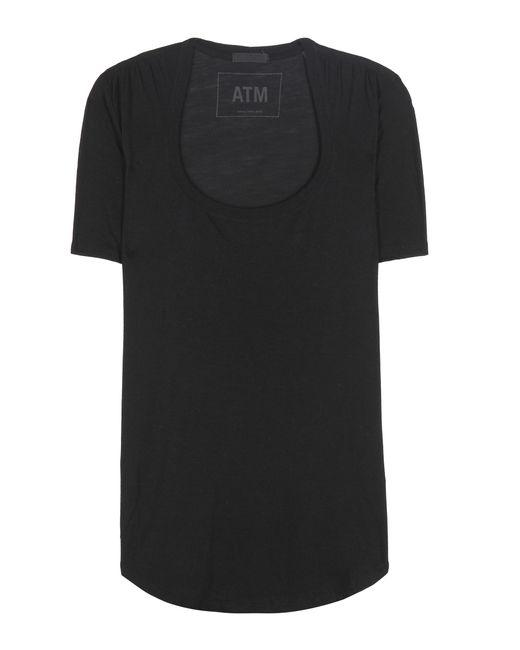 ATM | Black Jersey T-shirt | Lyst