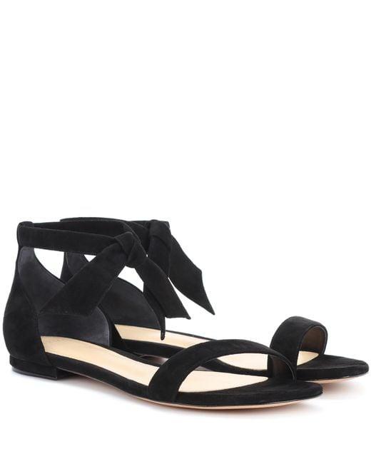 Alexandre Birman - Black Suede Sandals - Lyst