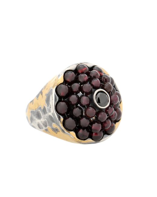 Bottega Veneta - Metallic Sterling Silver Ring - Lyst