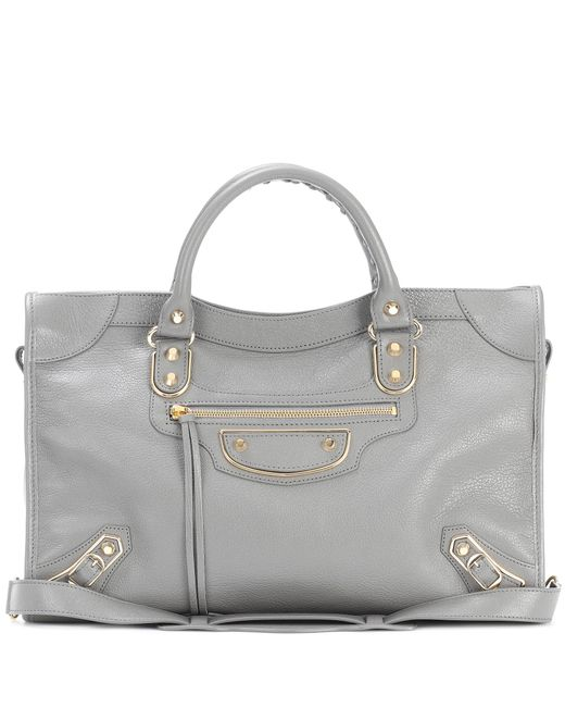 Balenciaga | Gray Classic Metallic Edge City Leather Tote | Lyst