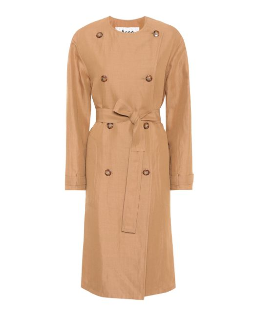 Acne - Natural Anghelica Gabardine Trench Coat - Lyst