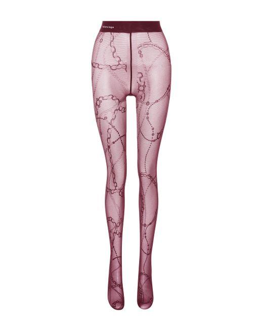 Balenciaga - Multicolor Printed Tights - Lyst