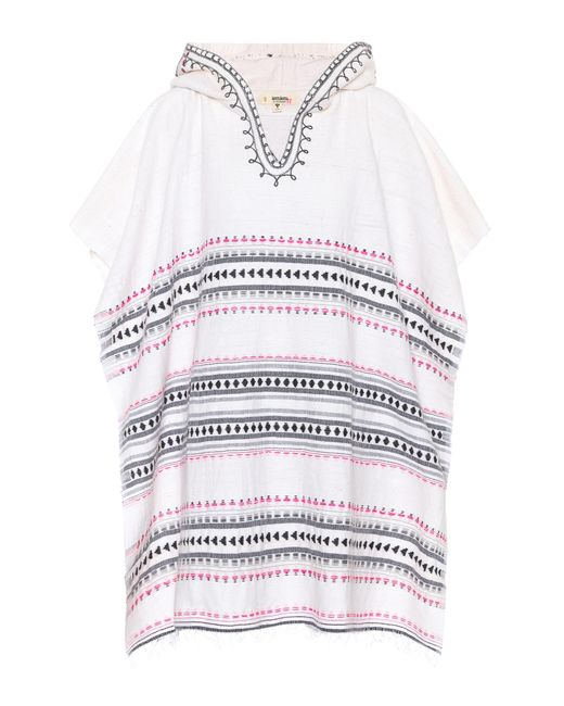 Lemlem - White Makari Hooded Poncho - Lyst