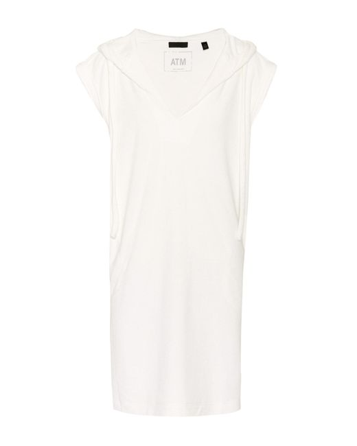 ATM - White Cotton Dress - Lyst