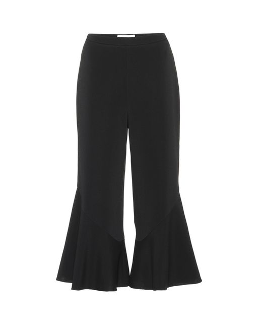 Peter Pilotto | Black Cady Frill Culottes | Lyst