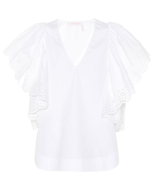 See By Chloé - White Cotton Lace Top - Lyst