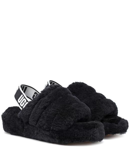 Lyst Ugg Fluff Yeah Fur Slides In Black
