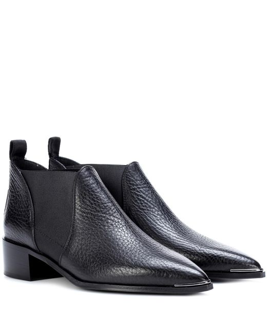 Acne - Black Jenny Leather Ankle Boots - Lyst