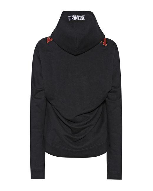 Vetements - Black Printed Cotton-blend Hoodie - Lyst