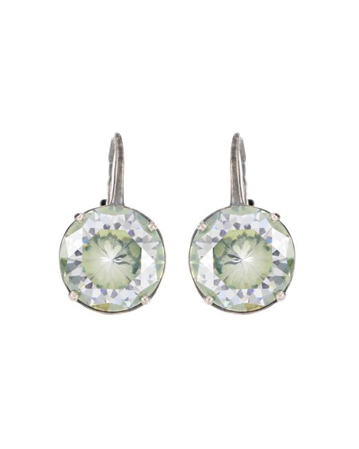 Bottega Veneta - Metallic Cubic Zirconia Clip-on Earrings - Lyst