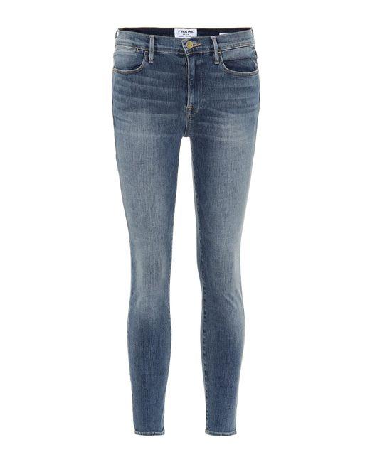 FRAME - Blue Le High Skinny Jeans - Lyst