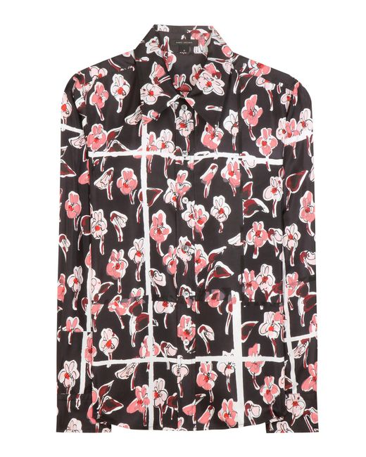 Marc Jacobs | Pink Printed Silk Blouse | Lyst