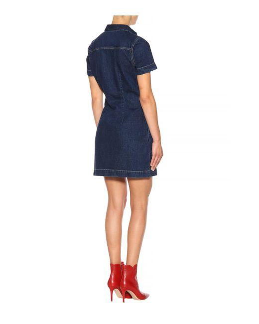 a1c9040104 ... Calvin Klein - Blue Denim Dress - Lyst ...
