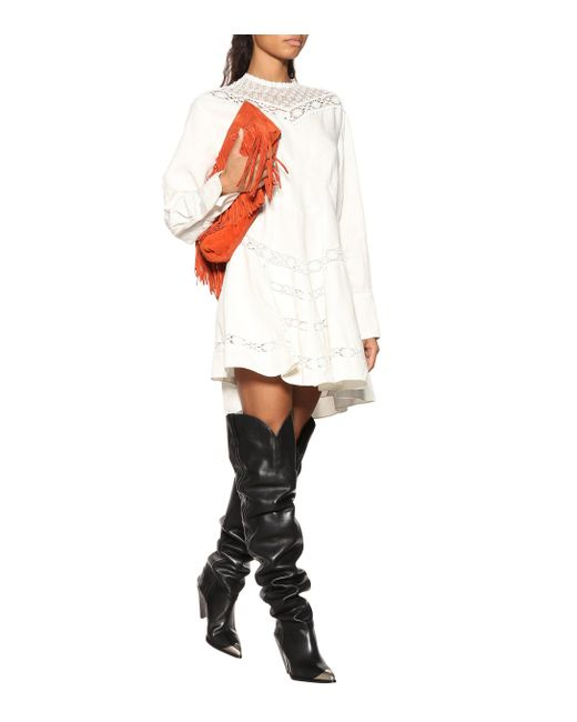 f414dfd7581 ... Isabel Marant - Black Lafsten Leather Over-the-knee Boots - Lyst ...