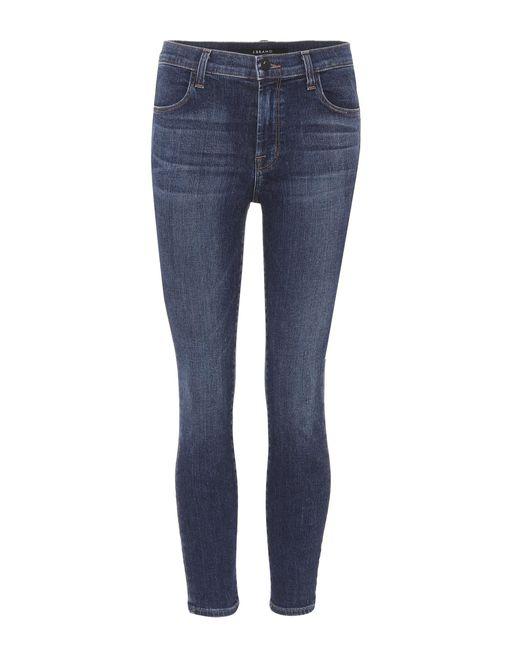 J Brand - Blue Alana Cropped Skinny Jeans - Lyst